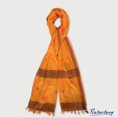 Cotton-Orange-colour-orna